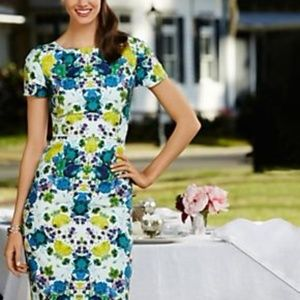 Talbots Floral Easter Cotton Linen Dress